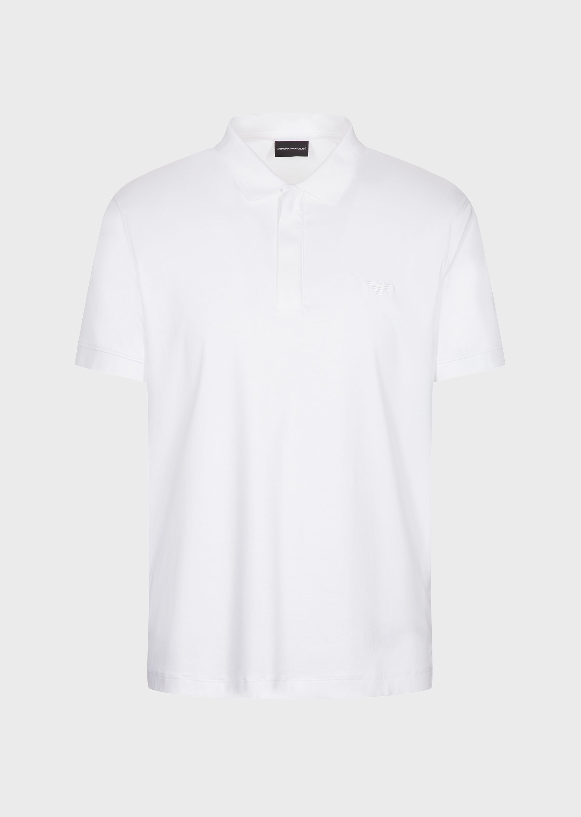 White zip polo