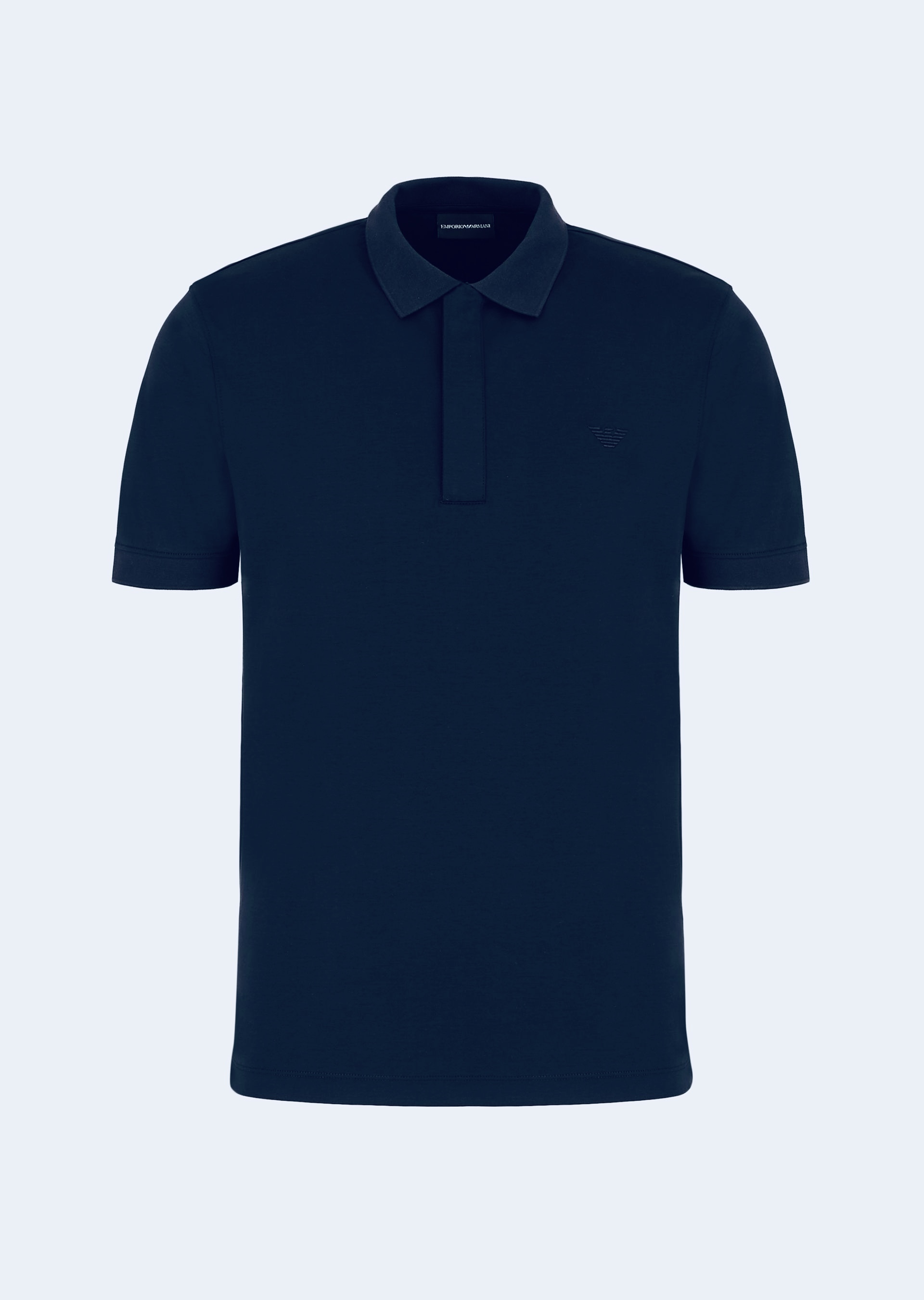 Navy zip polo