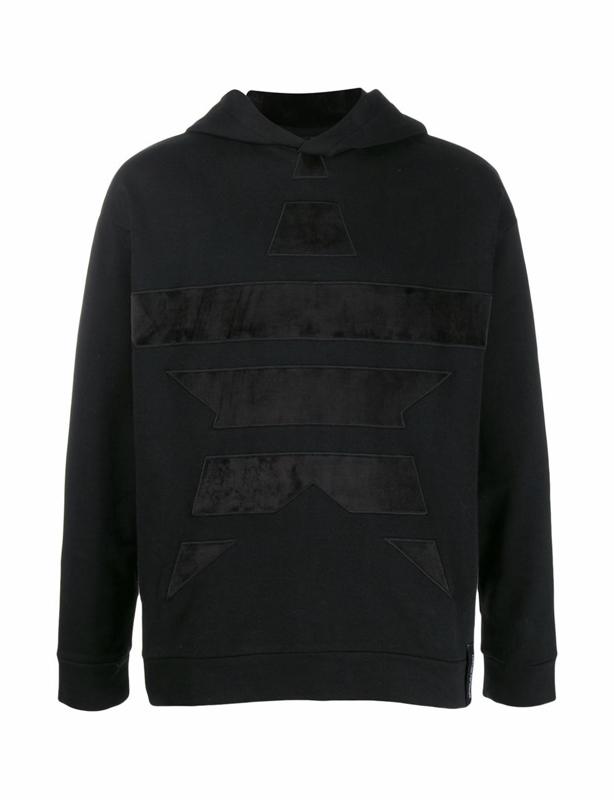 Black suede star hoody