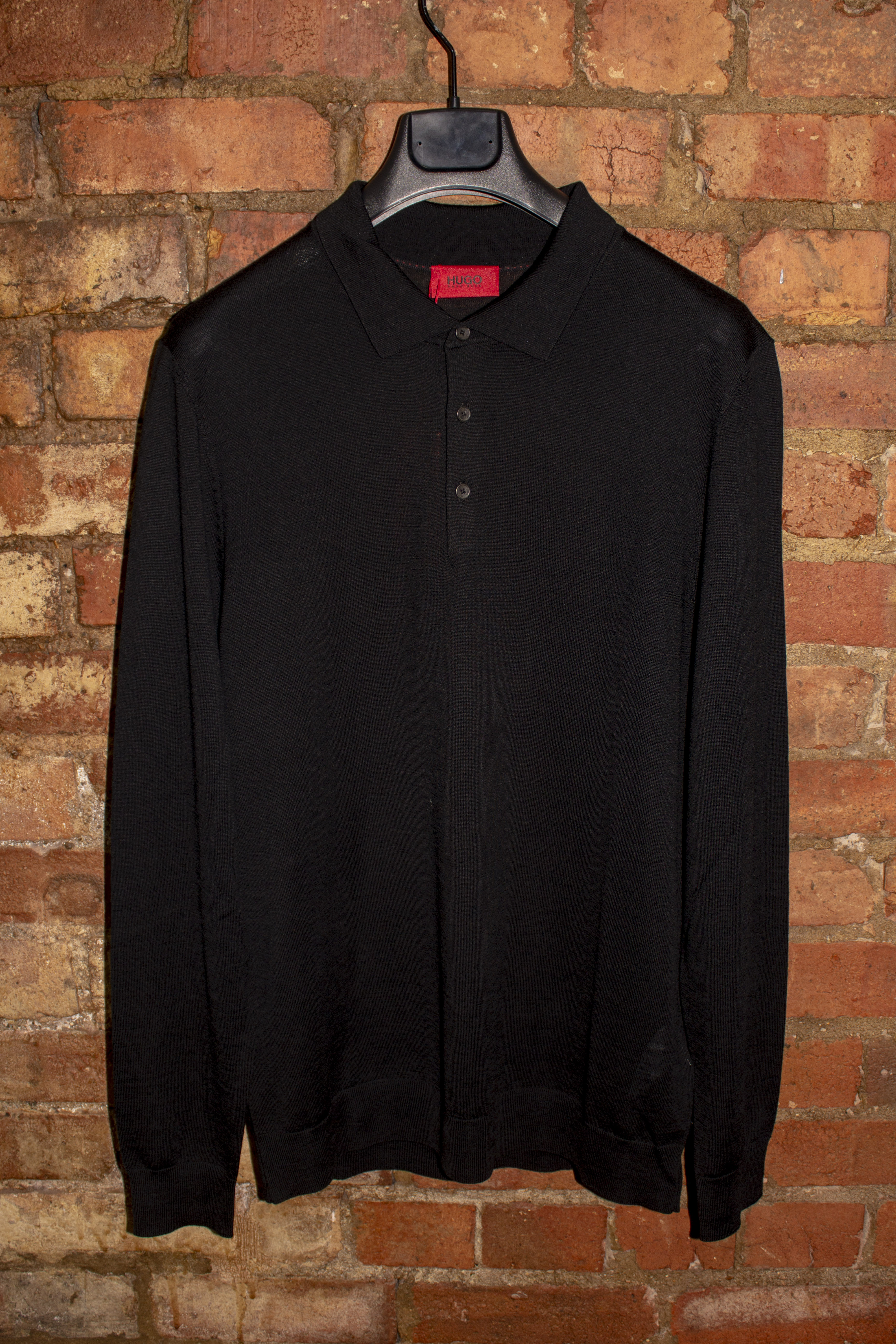 Black Knitted Polo