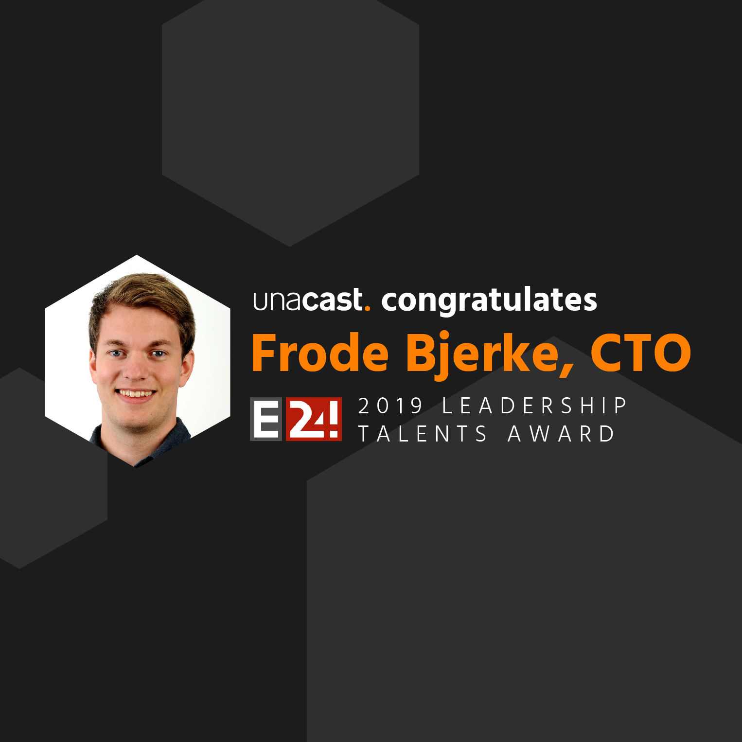 CTO Frode Bjerke Named to 2019 Leadership Talents Award