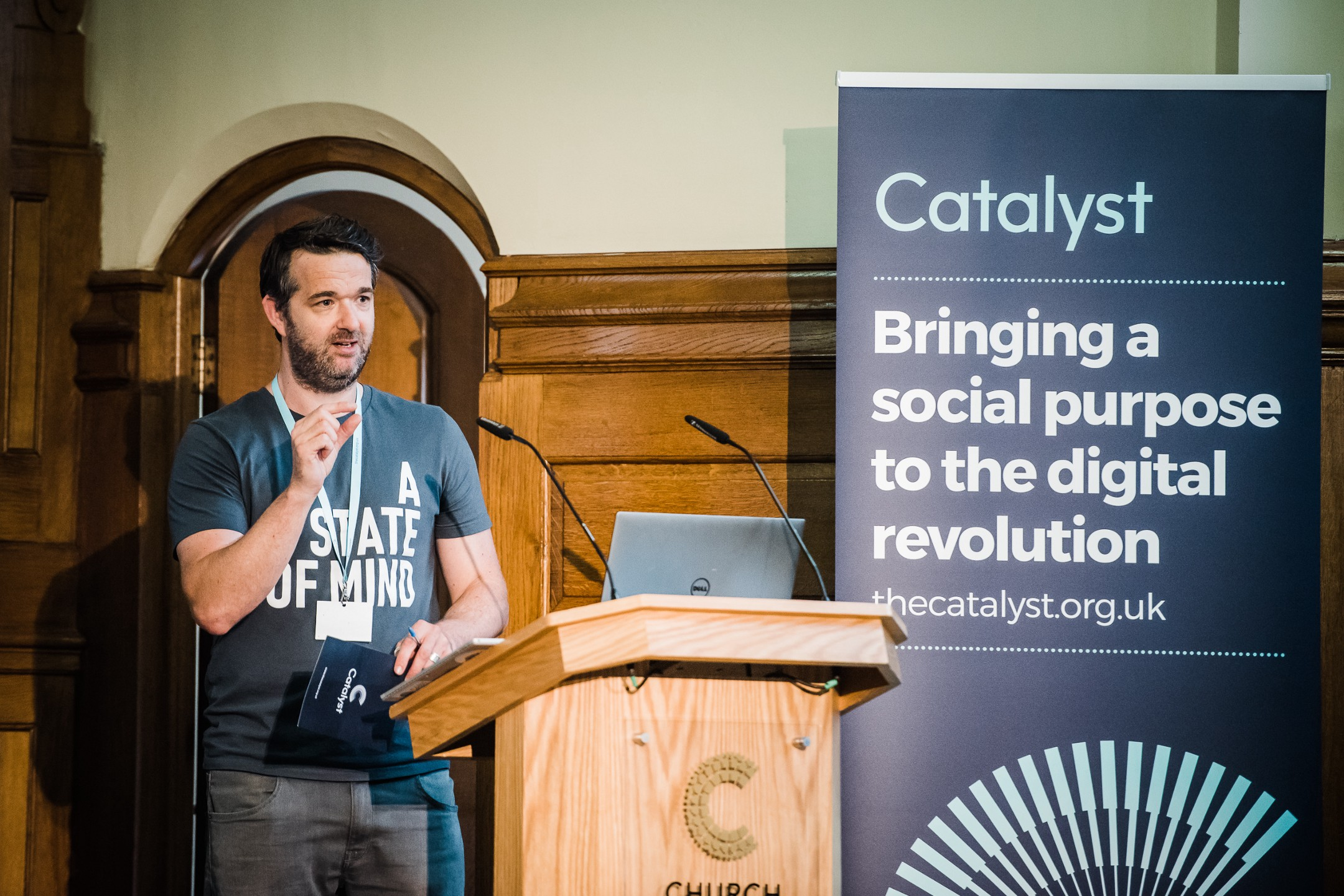 Dan Sutch, Co-Founder of Catalyst, speaking at the inaugural gathering of Catalyst