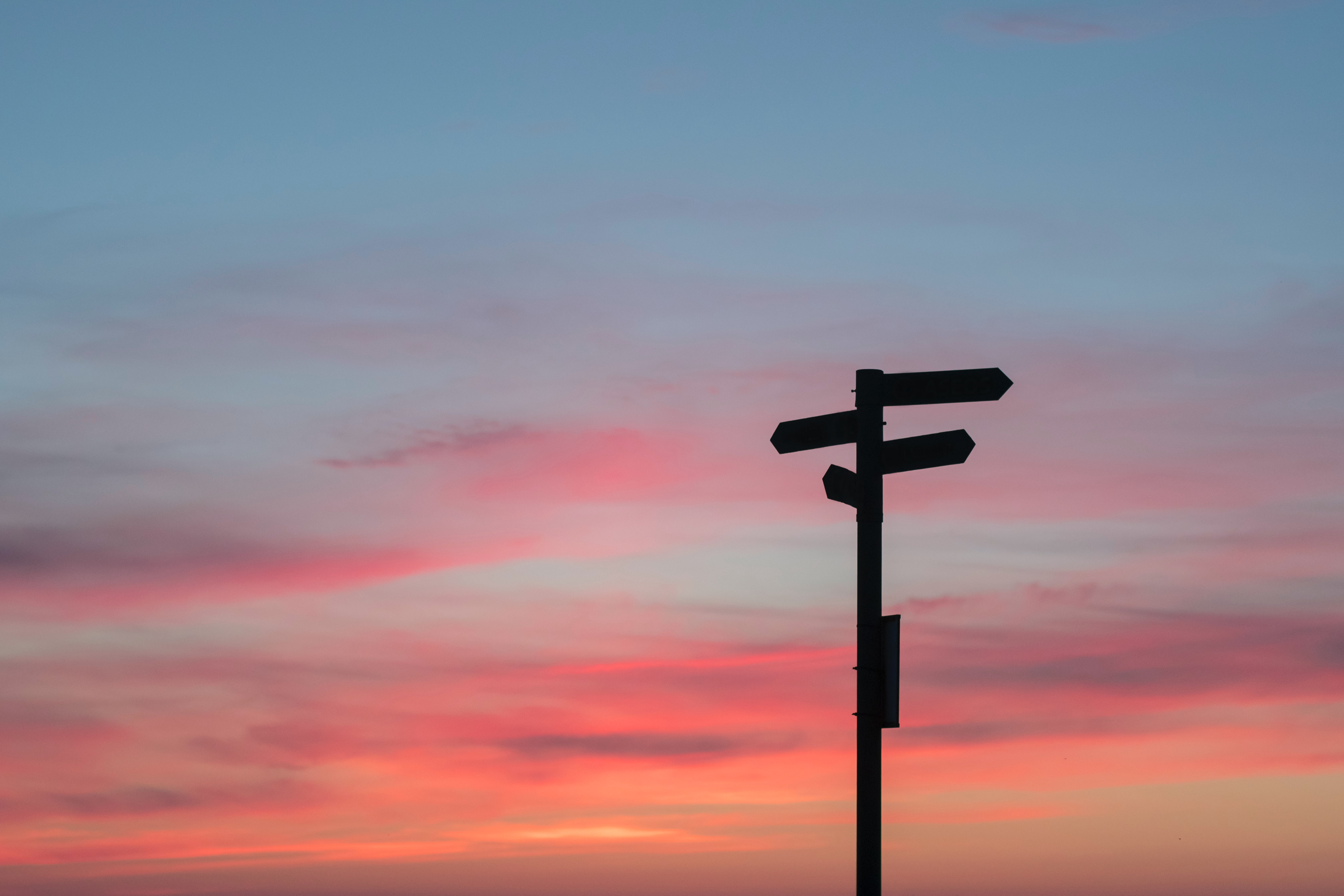 A signpost shown against the sky