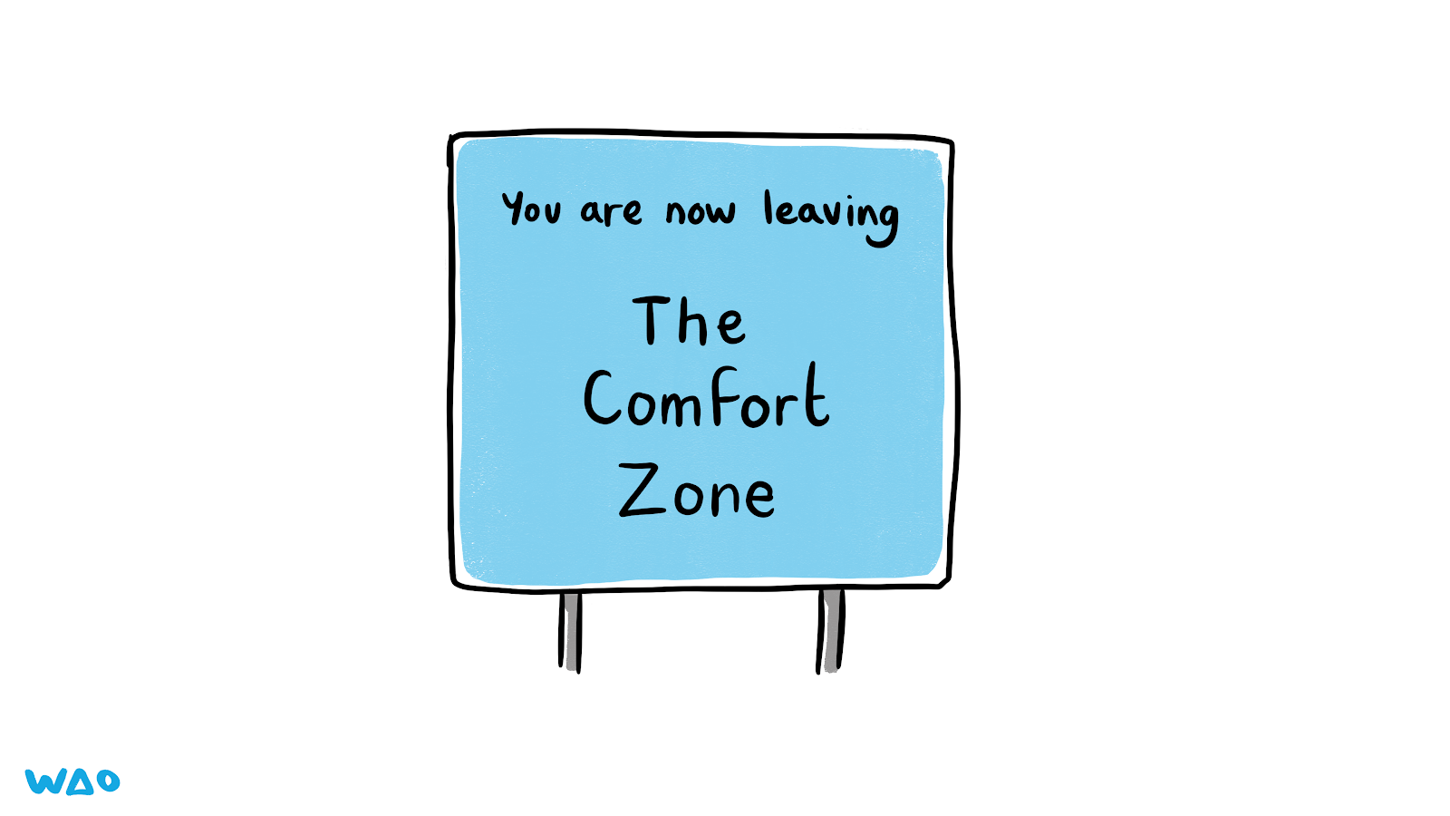 Sign which reads: 'You are now leaving The Comfort Zone'