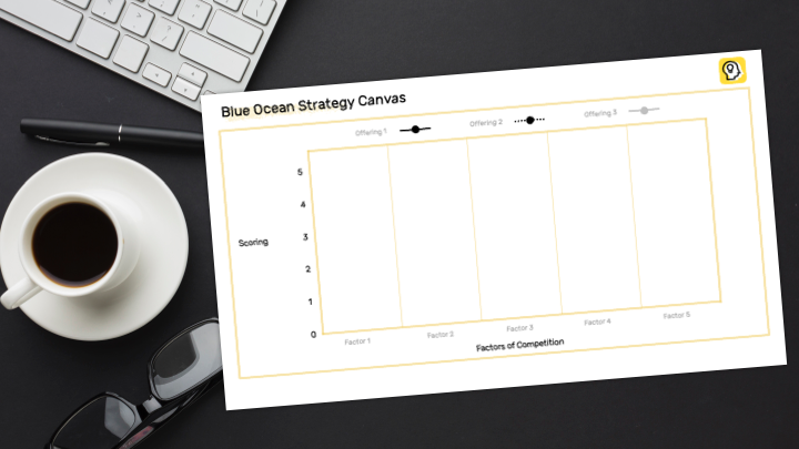 Blue Ocean Strategy Canvas Preview Illustration