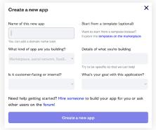 dgitags bubble create new app