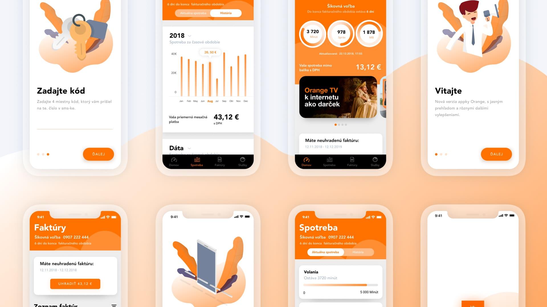 mobile application concept for telecommunication operator | koncept mobilnej aplikácie pre telekomunikačného operátora