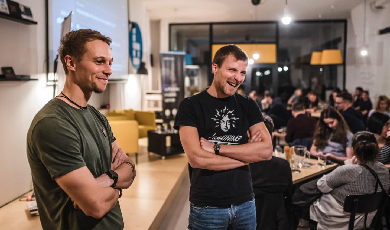 Goodrequest Lead Designer Michal Sleziak with Michal Blažej
