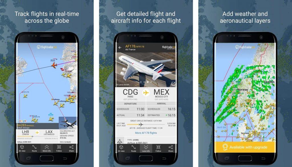 aplikacia flightradar
