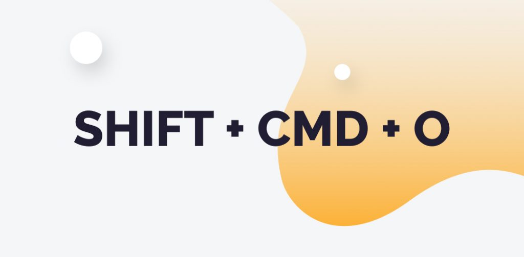 shift+cmd+o