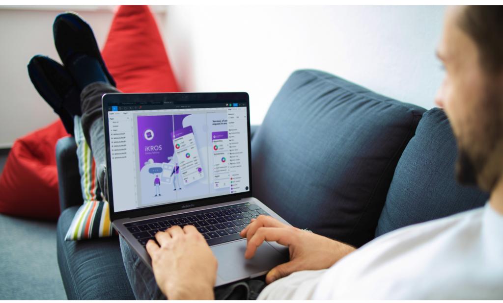 graphic presentation of digital product design