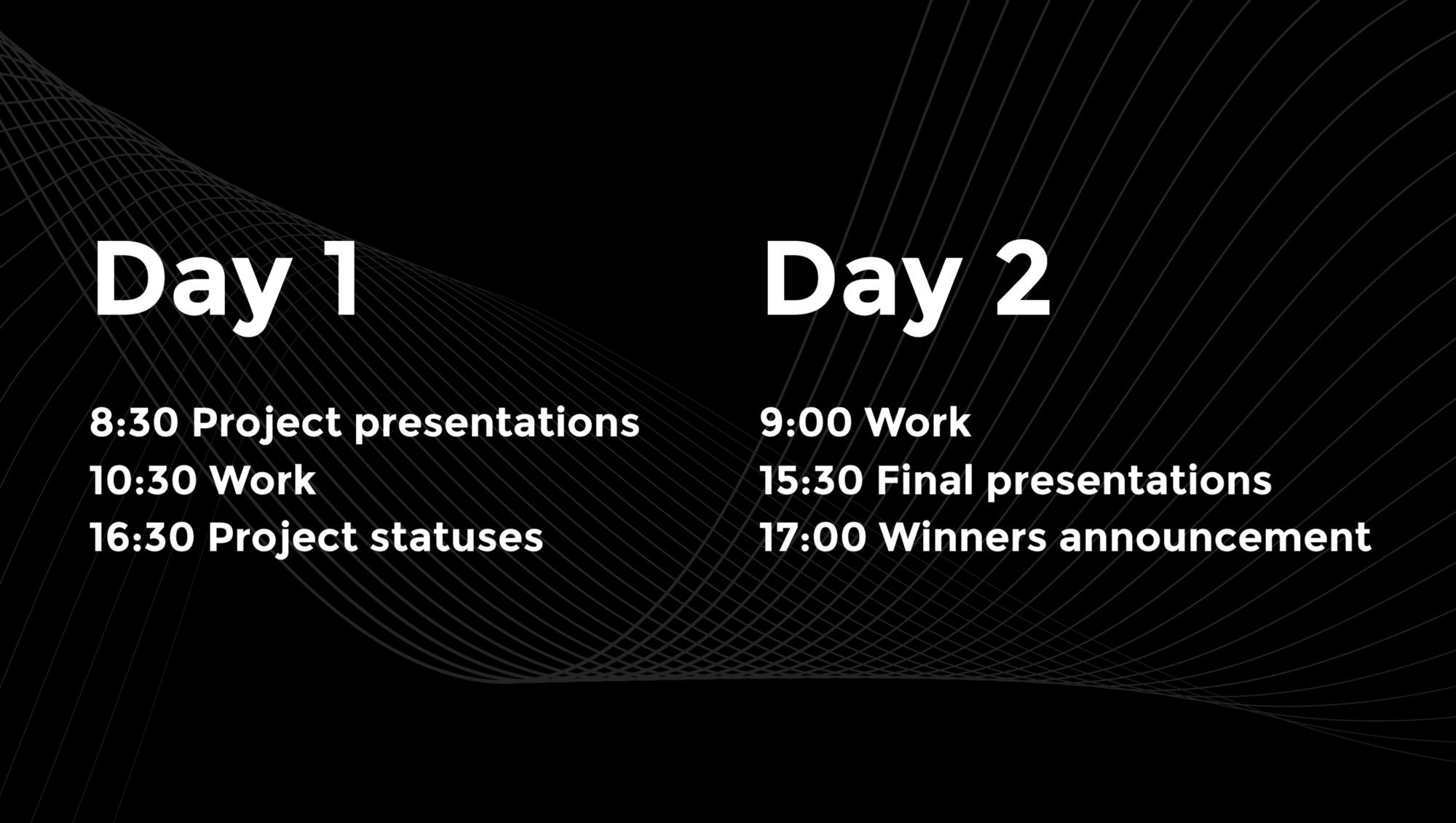 2021 Hackathon schedule