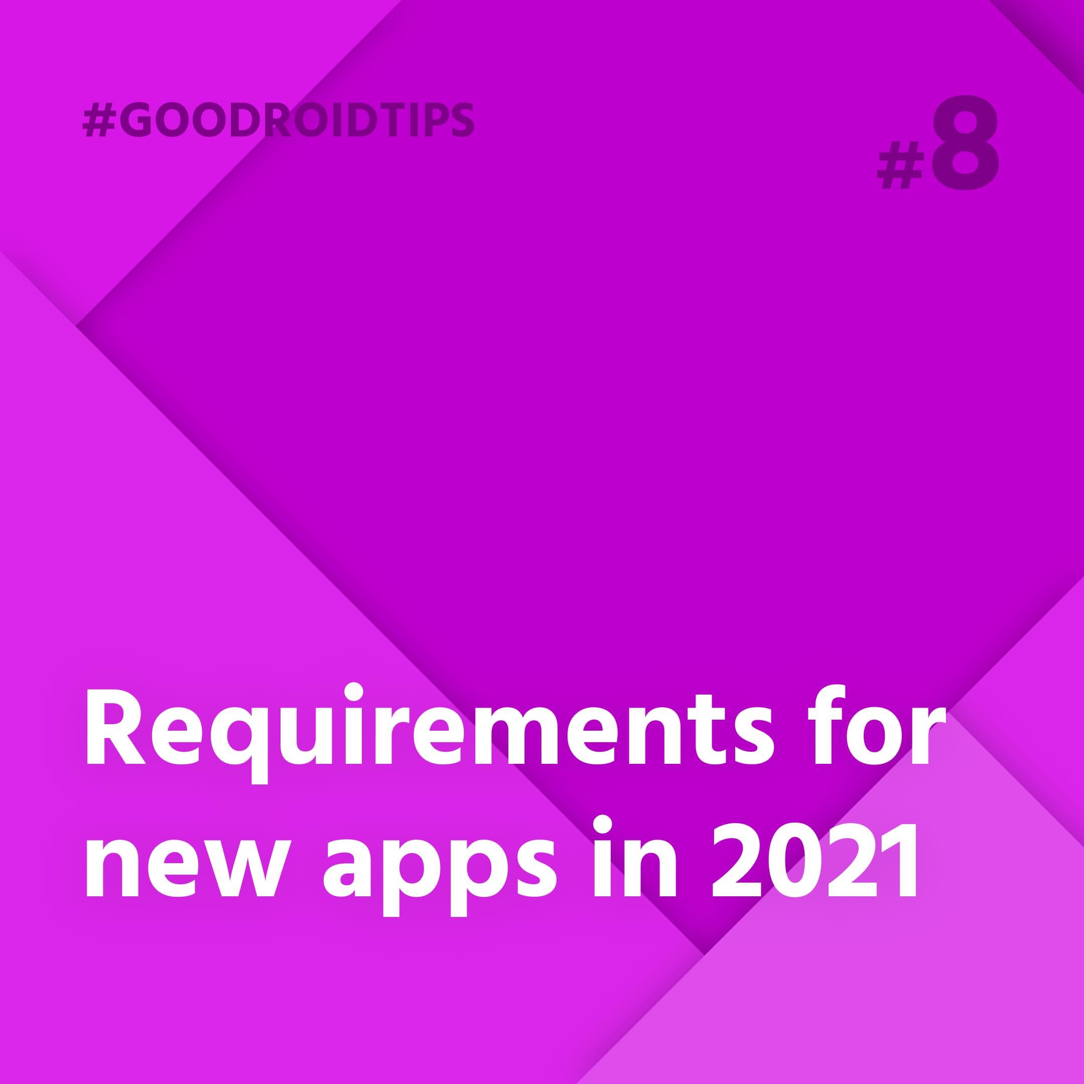 Nové požiadavky pre aplikácia v  obchode play platné od 2021