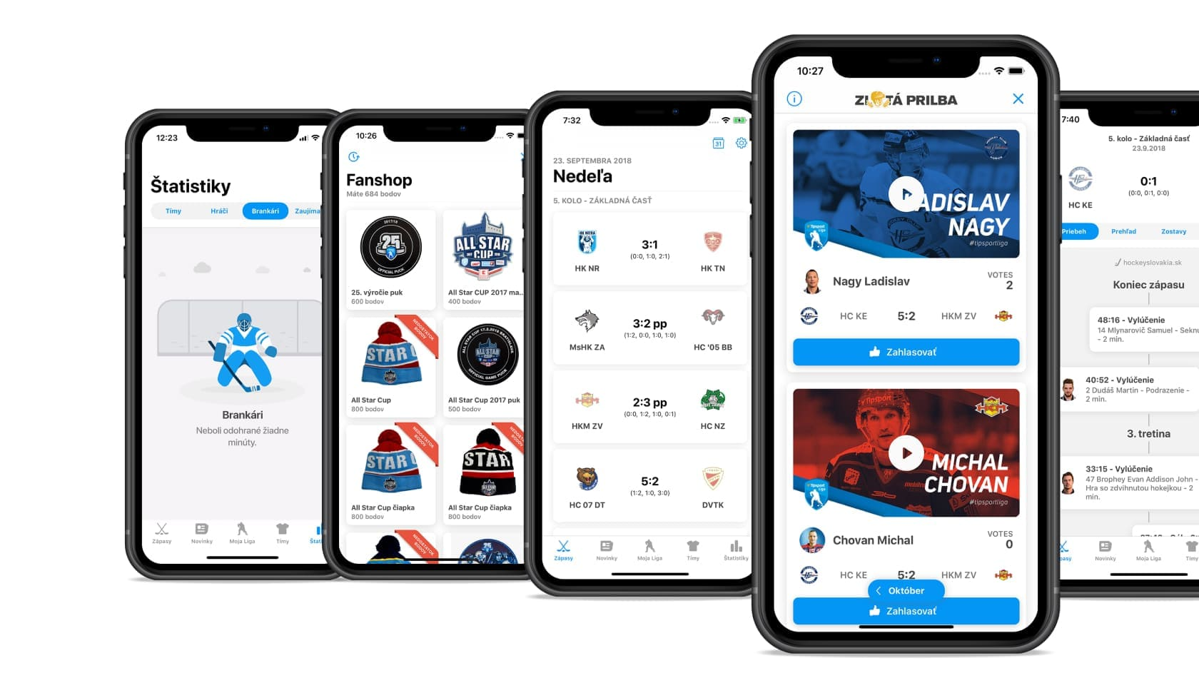 a number of mobile application features for hockey fans