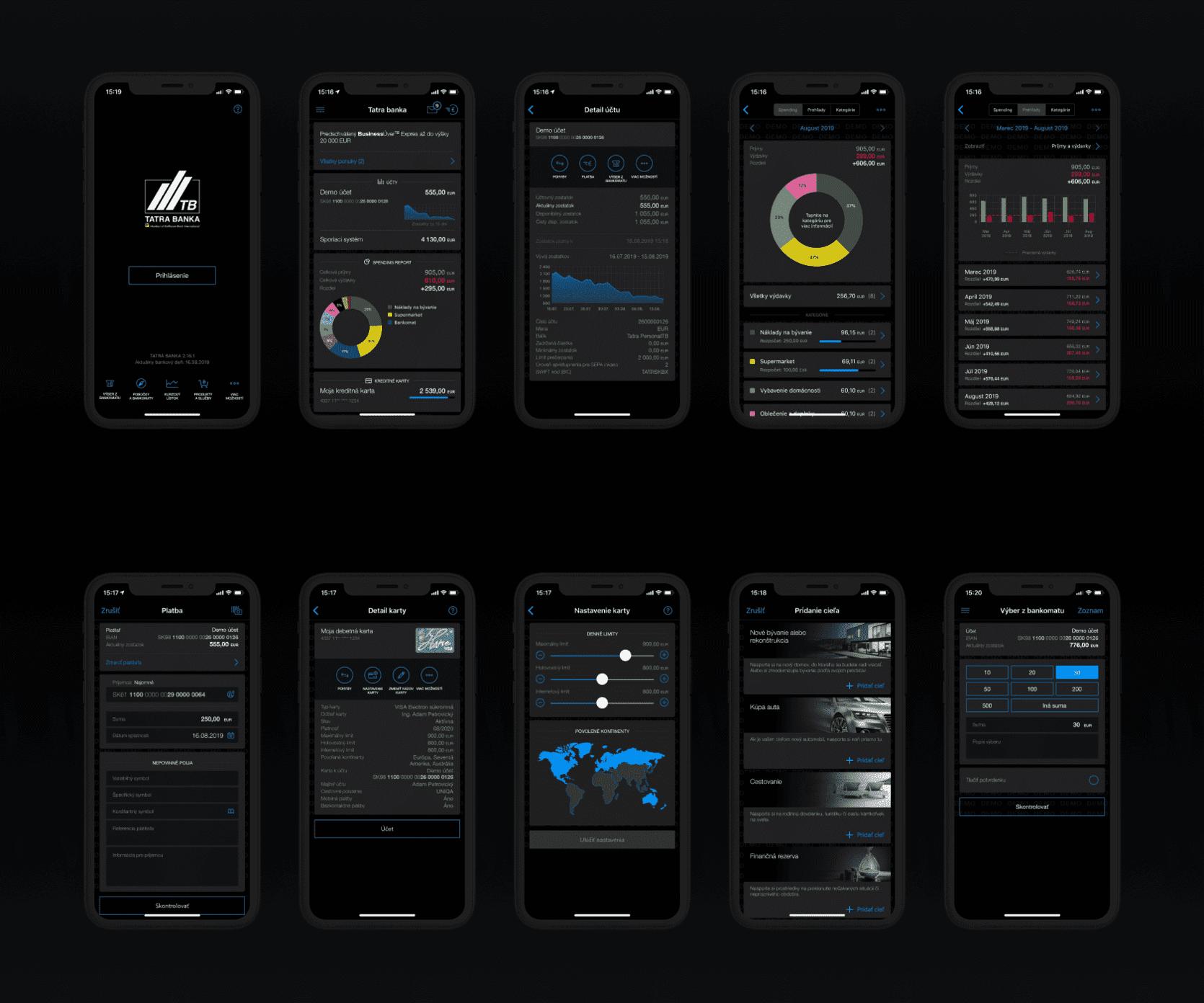 vyvoj mobilneho bankovnictva pre ios a android