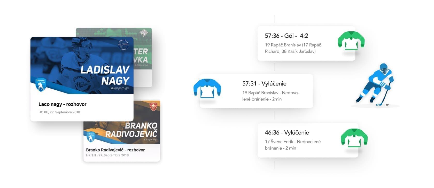 vyvoj mobilnej aplikacie s prehľadom zivych zapasov a novinkami