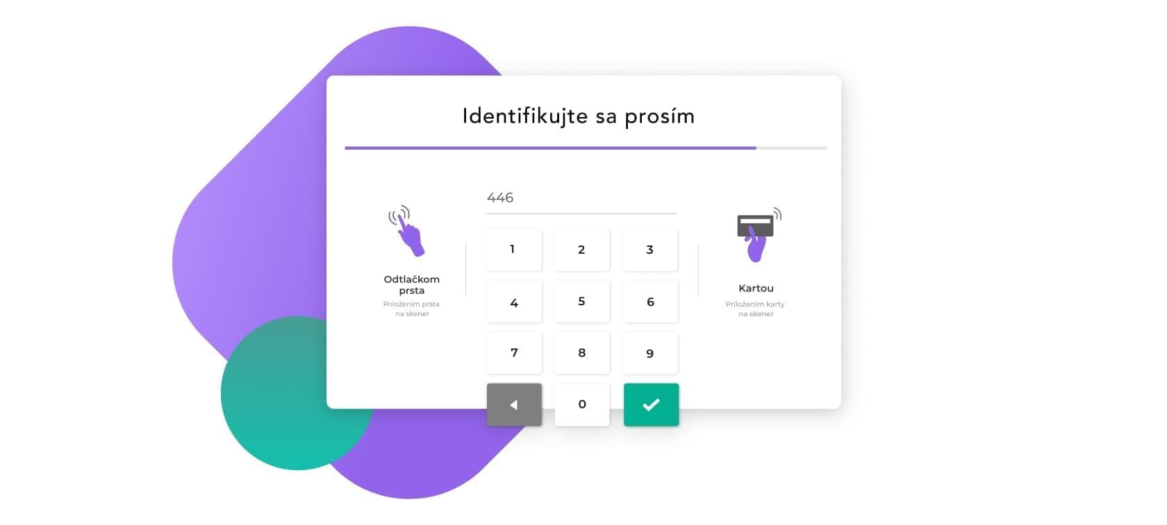 prihlasovanie do mobilnej a webovej apliakcie pomocou otlacku prsta hesla kartou