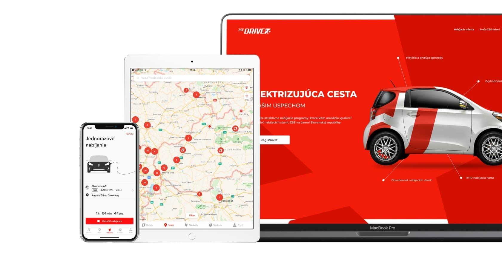 UX UI dizajn pre ios android web aplikacie zamerane na elektromobilitu