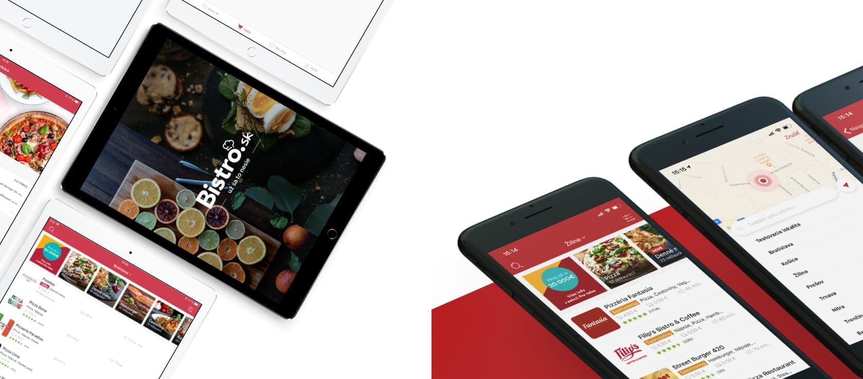 Užívateľské prostredie mobilnej aplikacie pre ios android platformu pre portál bistro.sk