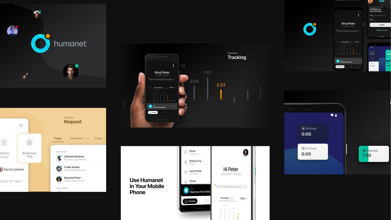 UX dizajn mobilnej aplikácie pre dochádzkový systém Humanet