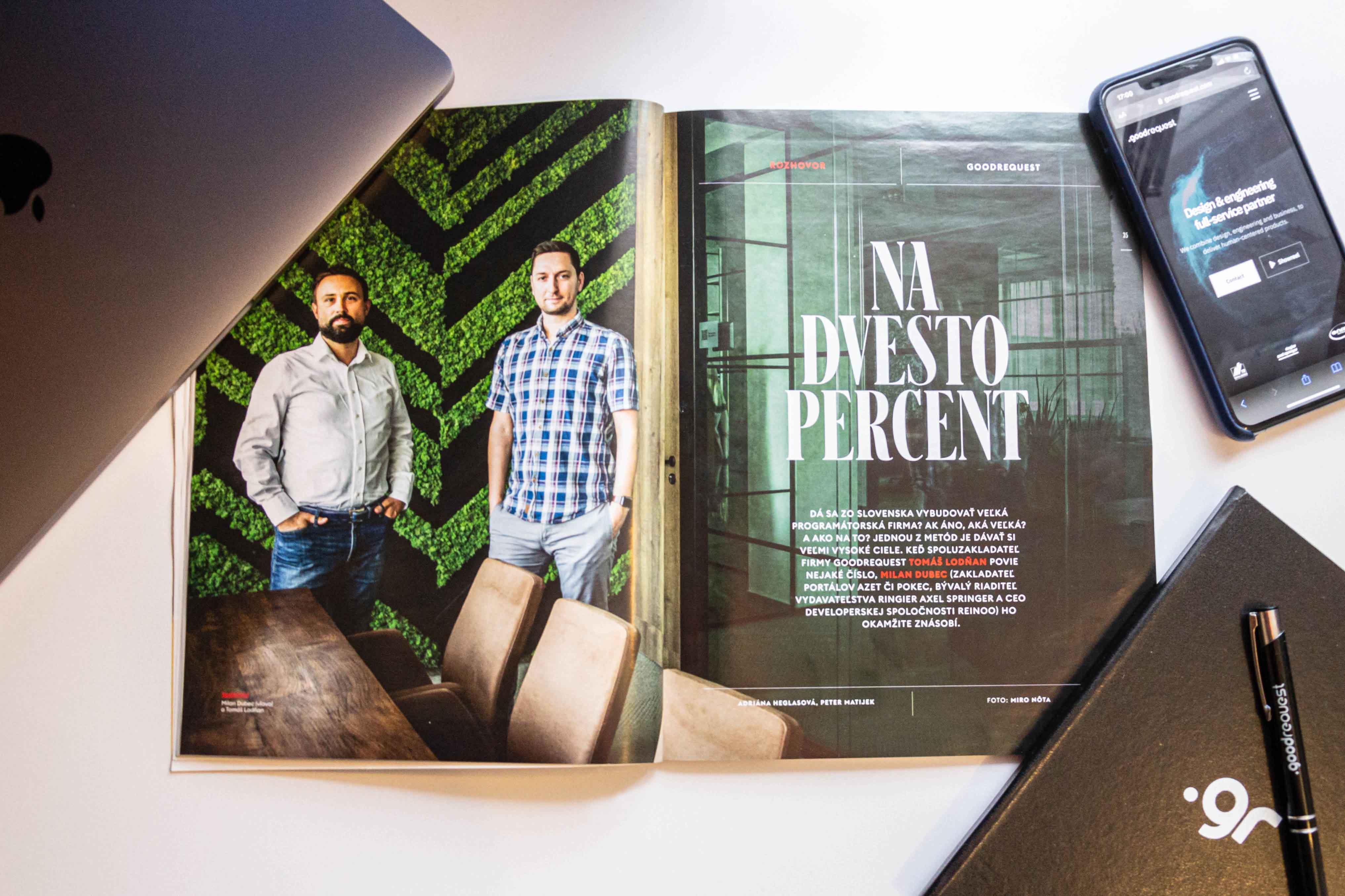 Tomáš Lodňan a Milan Dubec pre Forbes: O začiatkoch, plánoch a budúcnosti GoodRequest