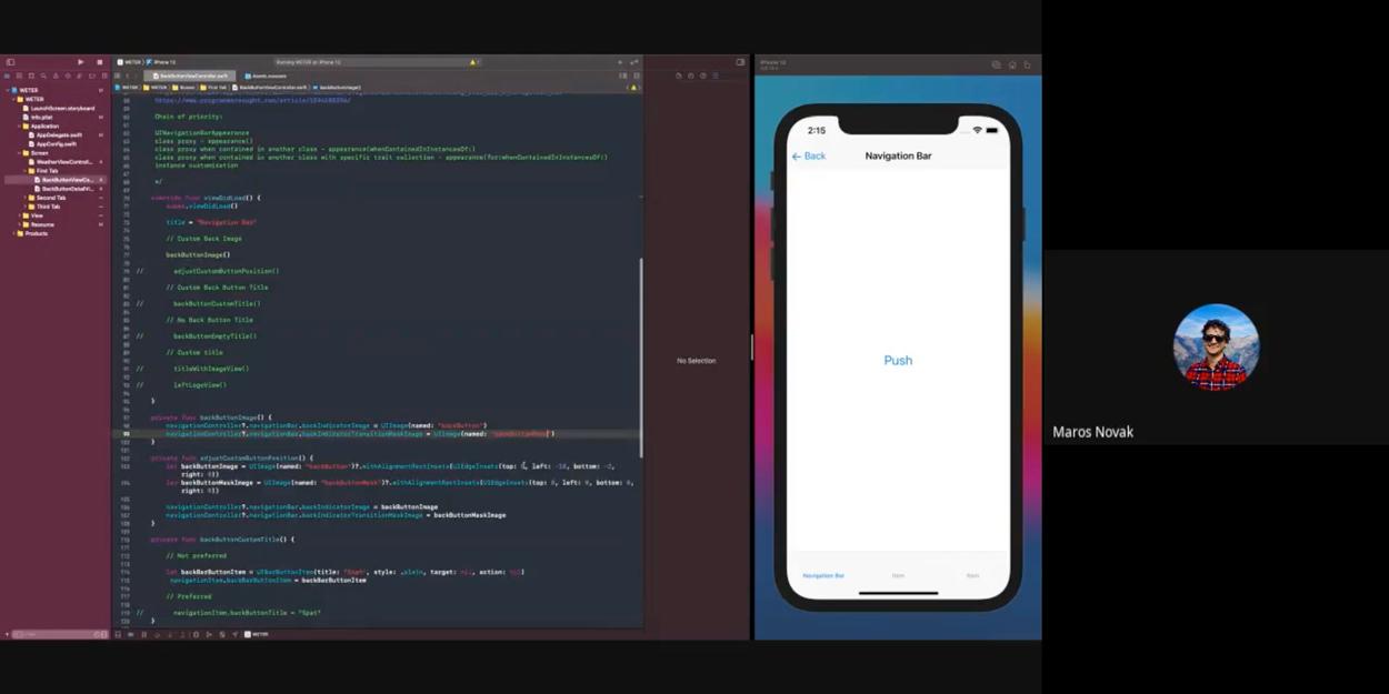 Ukážka priebehu iOS Akadémie v réžií Maroša Nováka