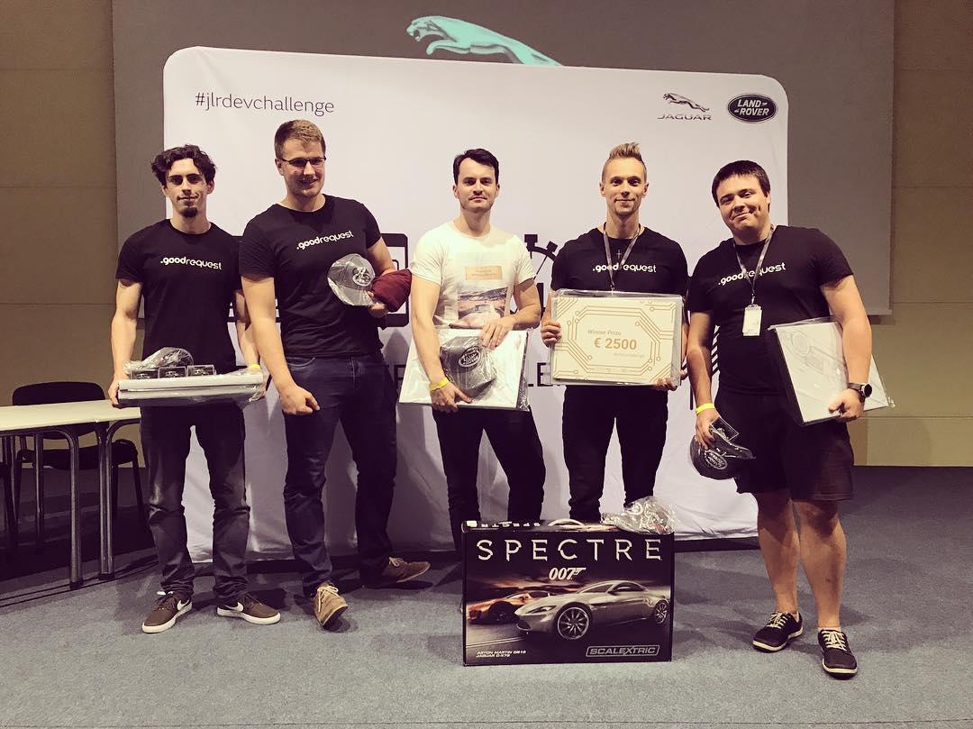 GoodRequest ako víťaž  Jaguar Land Rover Developer Challenge