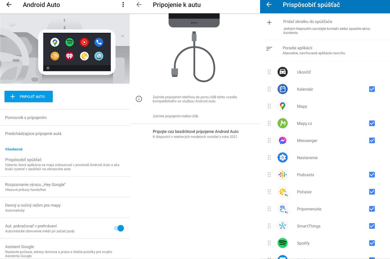 Nastavenia smartfónu k službe Android Auto