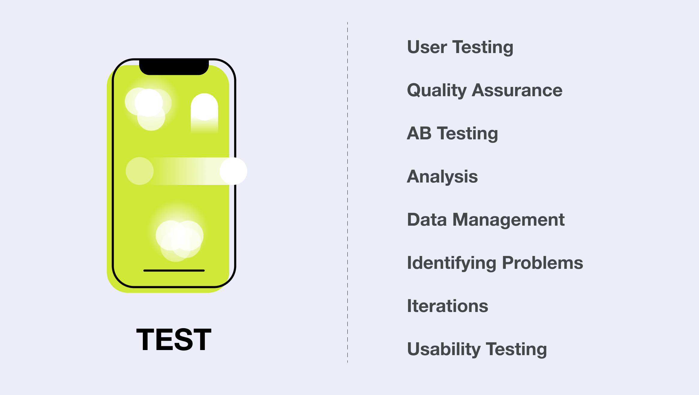 We iterate and test every part of our designs, whether through user testing or our QA team