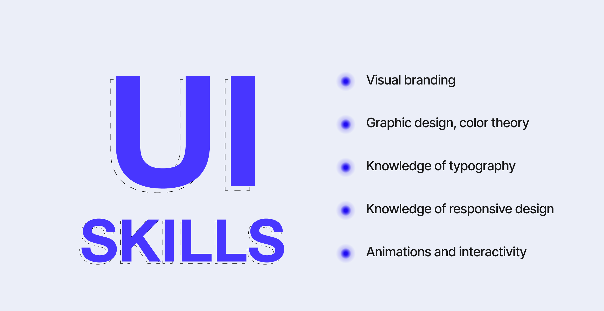 What skills are needed to work as a UI designer