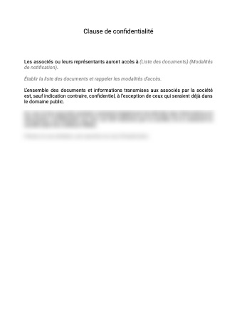 Clause de confidentialité