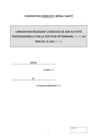 Convention d'exercice libéral santé