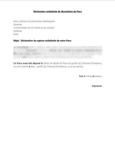 Dissolution PACS