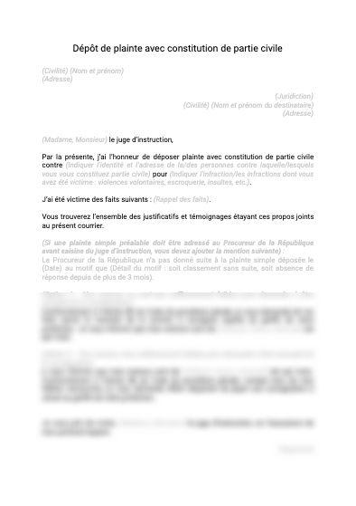 Constitution de partie civile