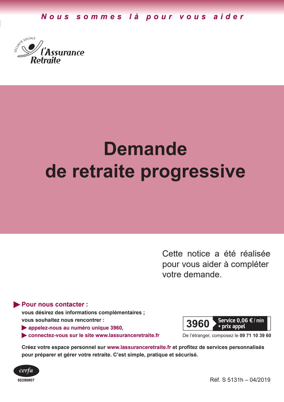 Formulaire_10647*07 : Demande de retraite progressive - Salarié du régime général