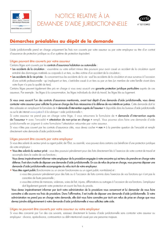 Formulaire_5213301 : notice relative a la demande d'aide juridictionnelle