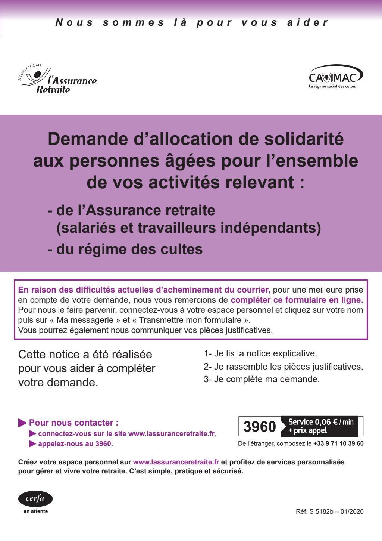 Formulaire_13710*02 : Demande d'Aspa auprès de la Caisse nationale d'assurance vieillesse (Cnav)