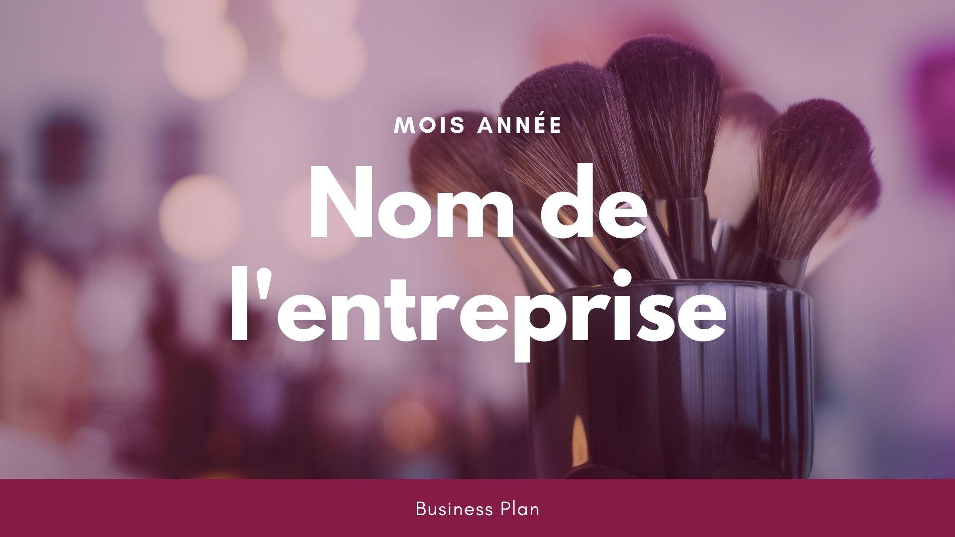Modèle de business plan - Institut de beauté