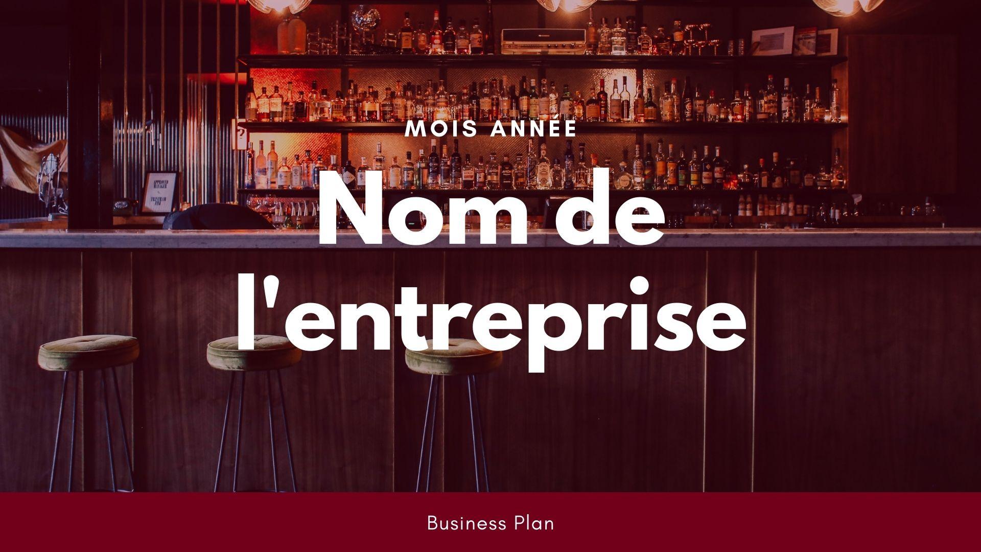 Modèle de business plan - Bar