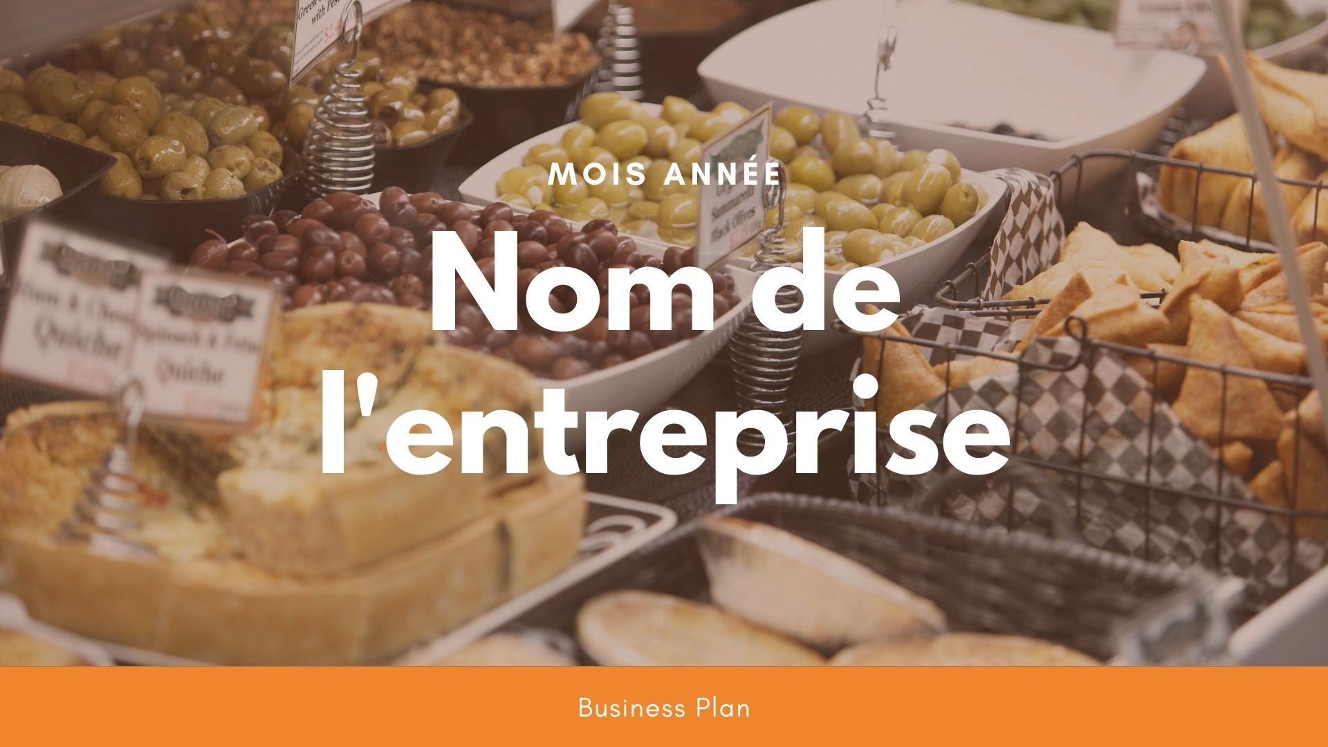 Modèle de business plan - Epicerie fine
