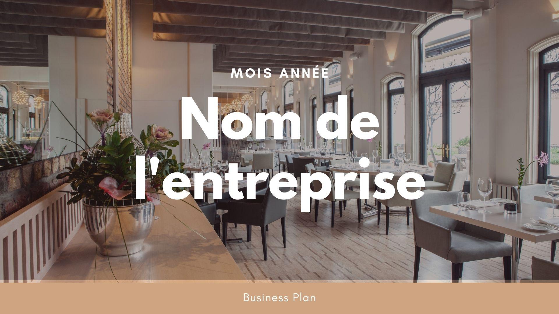 Modèle de business plan - Restaurant