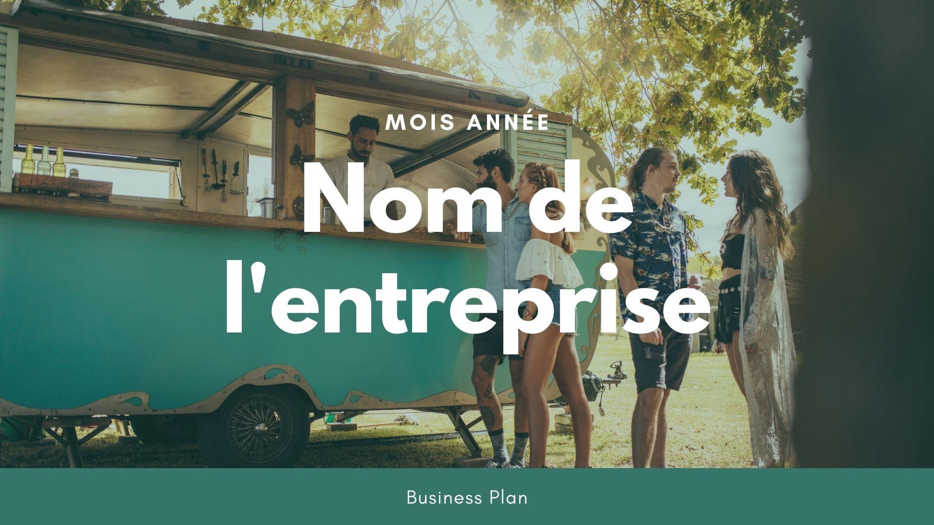 Modèle de business plan - Food Truck