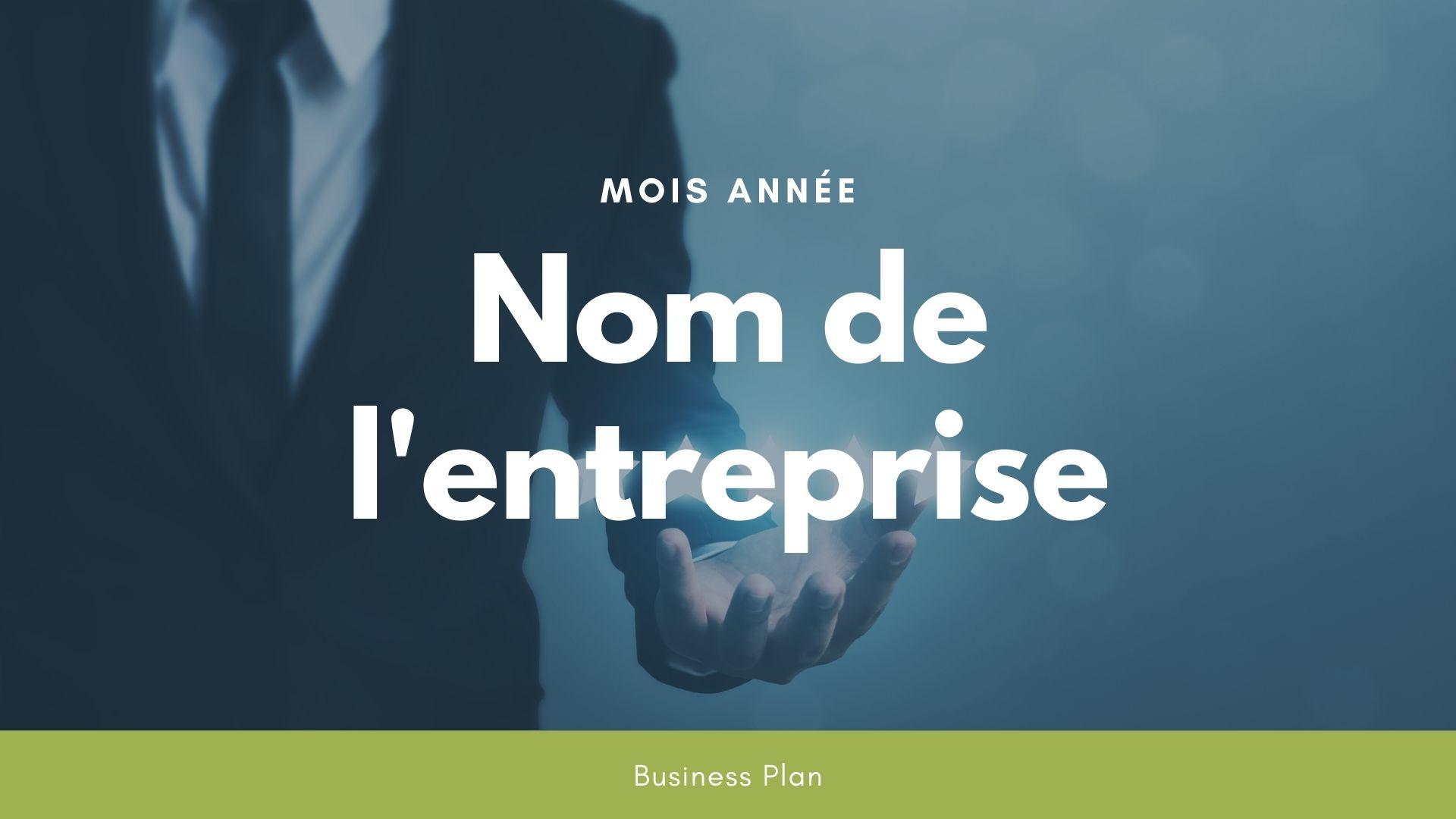 Modèle de business plan - Conciergerie d'entreprise