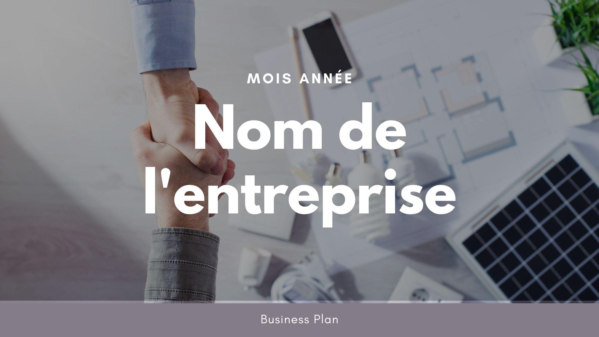 Modèle de business plan - Auto entrepreneur