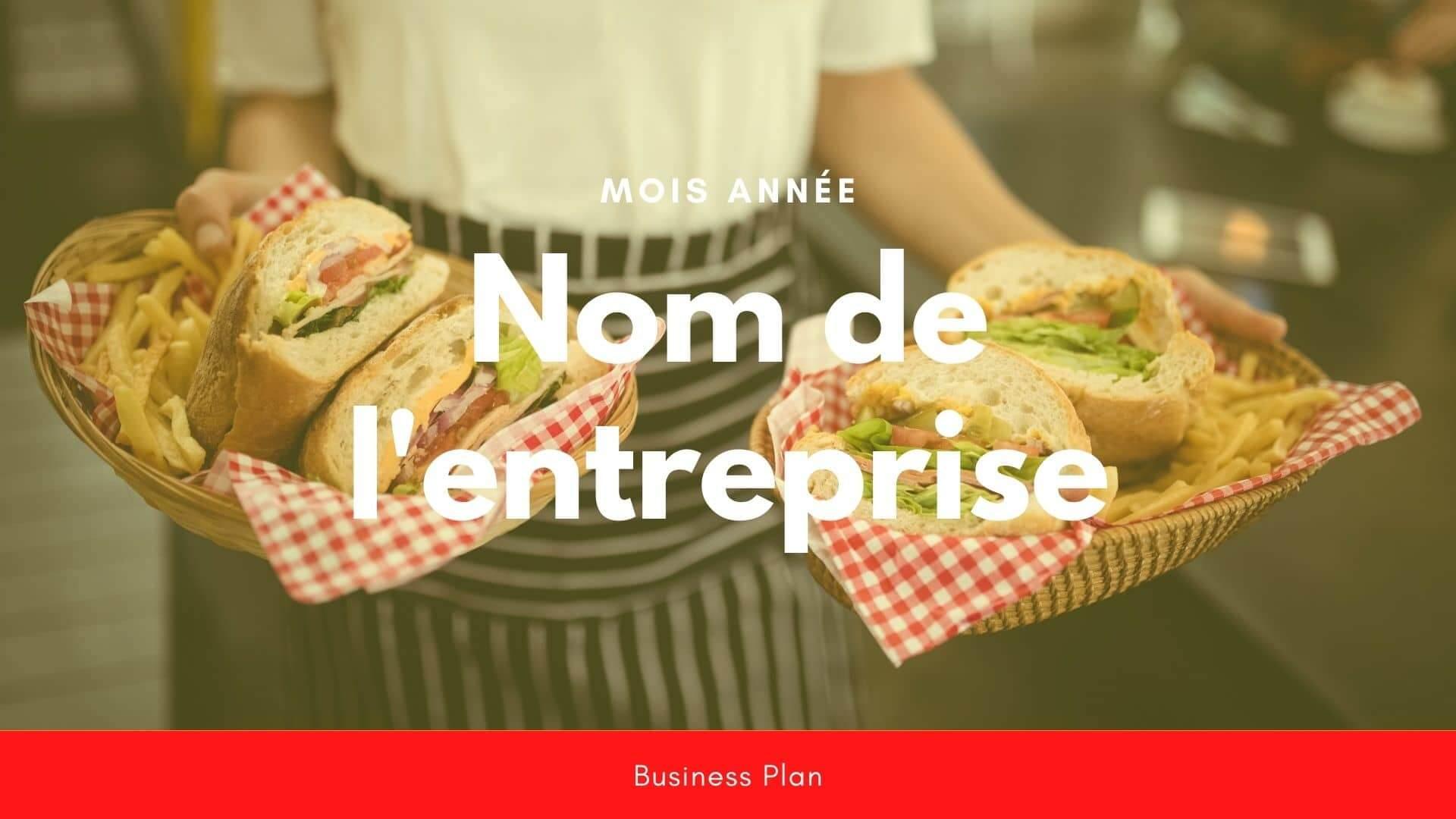 Modèle de business plan - Fast food