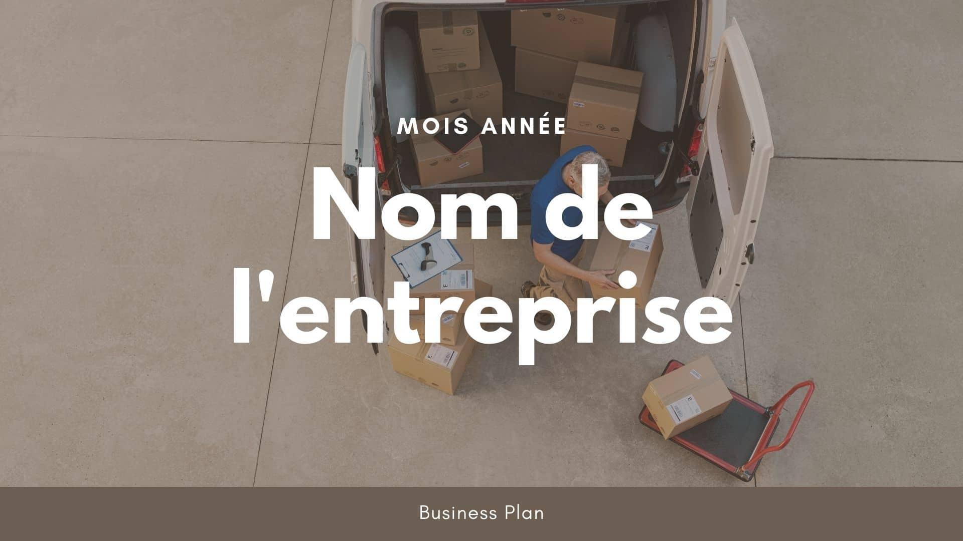 Modèle de business plan - Livraison à domicile