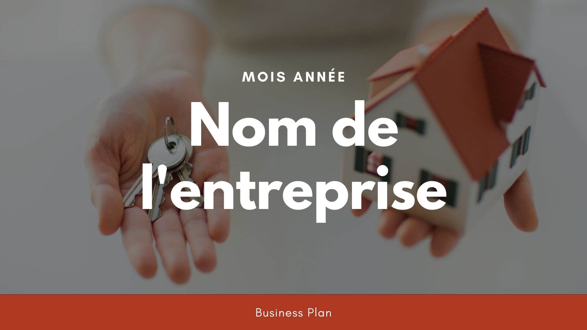 Modèle de business plan - Agence immobilière