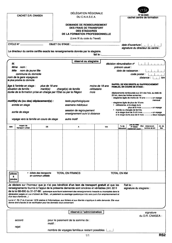 Formulaire_DAJ 543 : Le formulaire de demande d'allocations de sécurisation professionnelle