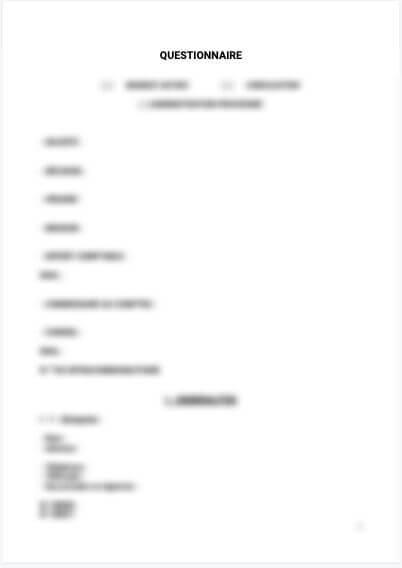 Questionnaire mandat ad hoc et conciliation