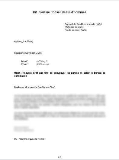 Kit Saisine Conseil de Prud'hommes